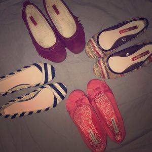 Shoes - Women's Flats-4 pair